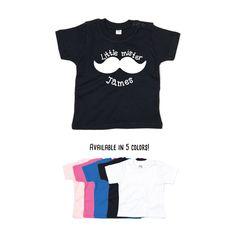 Baby boy shirt, Little mister shirt, personalized shirt, name shirt, boy birthday shirt, customizable boy shirt, mustache shirt, mister tee by KMLeonBE on Etsy