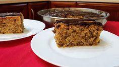 ΜΑΓΕΙΡΙΚΗ ΚΑΙ ΣΥΝΤΑΓΕΣ: Καρυδόπιτα με γλάσο σοκολάτας!!! Greek Recipes, Banana Bread, French Toast, Muffin, Pie, Breakfast, Sweet, Desserts, Food