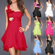 2014 spring new style cheap free shipping best selling European and American slim chiffon one shoulder bridesmaid dresses $49.99