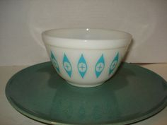 RARE Vintage Pyrex Glass Turquoise Eyes by PastPossessionsOnly, $49.95
