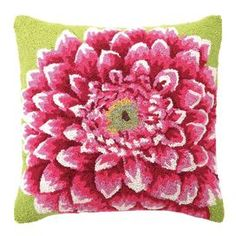 """Invite fresh spring flair into your home with this eye-catching pillow, adding a pop of style to your sofa, settee, or master bed.   Product: PillowConstruction Material: Wool and cotton canvas cover and polyester fillColor: MultiFeatures:  Insert includedHand-hooked Dimensions: 18"""" x 18""""Cleaning and Care: Professional cleaning recommended Shipping: This item ships small parcelExpected Arrival Date: Between 04/14/2013 and 04/22/2013Return Policy: This item is final sale and cannot be…"""