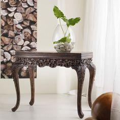 Hooker Furniture Melange Colston Carved Console Table.