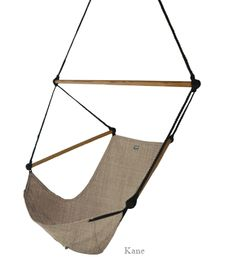 The original hanging hand crafted canvas hammock chair.