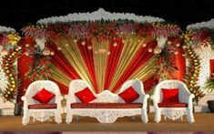 Decoration For Wedding Stage On Decorations With Wedding Stage Decorations And Stage 25 Indian Wedding Stage, Wedding Stage Design, Red Wedding, Wedding Events, Wedding Halls, Luxury Wedding, India Wedding, Wedding Cake, Wedding Flowers