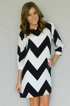 Carlie Chevron Dress by coco | Coco & Simone