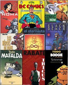 Libros y artículos de revista presentes en nuestra colección referidos a las historietas, un medio que nació para un público infantil, pero que hoy goza de la aceptación de grandes y chicos.