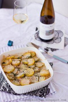 Salmon and Potato Casserole.