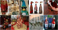 20 Festively Easy Wine Bottle Crafts For Holiday Home Decorating