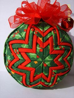 Holly Quilted Ornament by JCCrafts on Etsy, $18.00