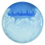 'BEHIND THE FROZEN WINDOW'  The first limited edition collectors plate is attributed to Bing and Grondahl and was made around 1895 - Royal Copenhagen.