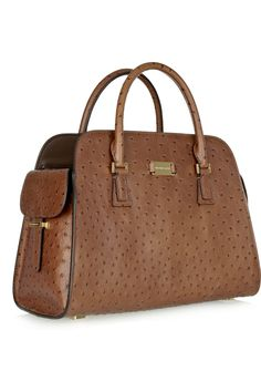 Gia ostrich-effect leather tote MK