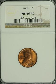1958-D NGC MS66 RED Lincoln Wheat Cent! #HT
