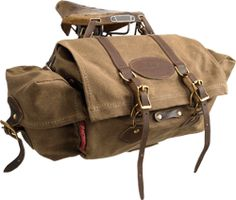Wax Canvas & Leather Bicycle Seat Bag, Perfect Companion for your Brooks Saddle. $210