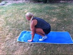 Jess is an NSCA-CSCS trainer. Visit her at http://www.blondeponytail.com for even more exercise routines.     4 minute fat blaster done ANYWHERE! 4 plyometric moves designed to amp your heart rate and blast fat. Repeat 2x. Modifications are provided at the beginning for beginners.    -Squat jumps [wide to narrow]  -Plank jack + spidey  -Split jack lun...