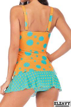ALOVEMO Swimsuits for Women Tummy Control Women Plus Size Dot Patchwork Bikini Two Piece Swimwear Tankini Swimjupmsuit Two Piece Swimwear, Plus Size Swimwear, Padded Swimsuits, Women Swimsuits, Polka Dot Tankini, Bathing Suits Hot, Swimsuit With Shorts, Beach Bunny Swimwear, One Piece Dress