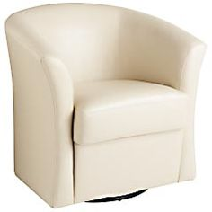 Isaac Swivel Chair - Ivory