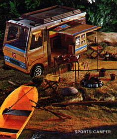 Big Jim and camping van. I had one of these.