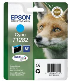 Epson Ink Cart Retail Pack Untagged - Cyan T128 - Epson T1282 Print cartridge M size 1 x cyan blister with RFacoustic alarm for Stylus S22 SX230 SX235 SX420 SX430 SX435 SX438 SX440 SX445 Stylus Office BX305 C13T12824021 Consumables Ink and Toner Cartridges  - http://ink-cartridges-ireland.com/epson-ink-cart-retail-pack-untagged-cyan-t128/ - CART, cyan, Epson, Ink, Pack, Retail, T128, Untagged