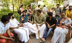 Dulquer Salman,Joju,Jomon,Parvathy at Charlie location-2390 Charlie Malayalam movie 2015 stills-Dulquer Salman,Parvathy