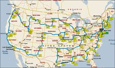 USA Road Trip: go through every state in the continental US. Pipe dream, but hey who knows...