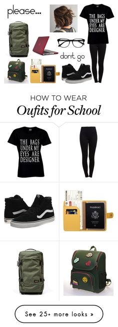 """Travel or Escape?"" by unicornpoop205 on Polyvore featuring Pieces, Eastpak, Vans, Speck and EyeBuyDirect.com"