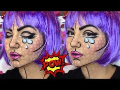 Pop Art Make up Tutorial || Αποκριάτικο Μακιγιάζ 2016 - YouTube