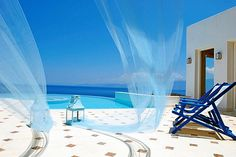 Santorini, Greece -- I want colors like this to fill my bedroom and remind me of the beach :)