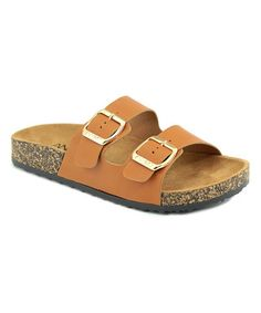 Loving this Tan Glory Slip On Sandal - Kids on #zulily! #zulilyfinds