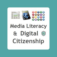 Media Literacy & Digital Citizenship - Resources to help students effectively evaluate print & digital media messages & responsibly use media from TV, radio, Internet, newspapers, magazines, books, billboards, video games, music, and other media formats. [board cover]