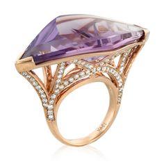 Bay Bridge Amethyst Ring by Yael Designs
