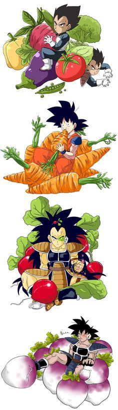 Vegeta | Tarble | Goku | Raditz | Turles ||| #dbz