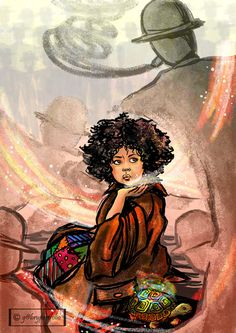 Beautiful illustration of Momo written by Michael Ende. Found on Deviant Art page of Gabrielle Dambrosio.