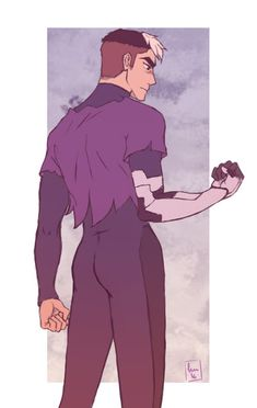 Shiro in his prisoner uniform from Voltron Legendary Defender