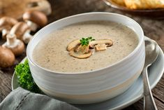 Can Mushroom soup Recipes is Among the Liked soup Recipes Of Numerous Persons Round the World. Besides Simple to Create and Good Taste, This Can Mushroom soup Recipes Also Health Indeed. Creamy Mushroom Soup, Mushroom Soup Recipes, Creamy Mushrooms, Stuffed Mushrooms, Stuffed Peppers, Low Carb Recipes, Cooking Recipes, Steak Recipes, Vegan Recipes