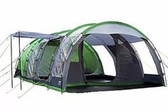 Regatta Vanern 6 Man Tunnel Tent with Front Canopy 5051513624493 | eBay