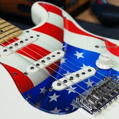 Pickguard for Fender Strat Style Guitar - American Flag [Graphic]- FREE Shipping #Stormguitar