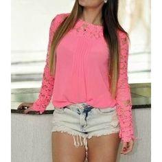 blusas manga longa com renda - Pesquisa Google