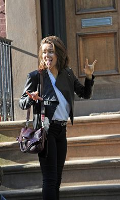 megan boone | Megan Boone on the set of 'The Blacklist' on September 22 2014 in New ...