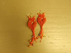 Excited to share the latest addition to my #etsy shop: macrame owl earrings,red owls,red earrings,handmade,boho,owl earrings,owls,ear wire,folk,statement earrings http://etsy.me/2EHxiOp #jewelry #earrings #red #animal #animals #women #yes #earwire #boho
