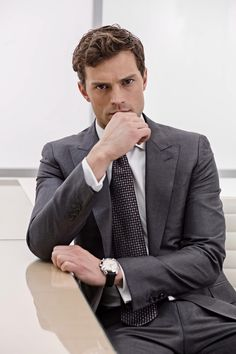Jamie Dornan on set Fifty Shades of Grey 2013