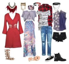 """Gryffindor/Horned Serpent Bohemian Grunge Outfits"" by transparentart ❤ liked on Polyvore featuring Etro, Wet Seal, 7 For All Mankind, New Look, WithChic, Giuseppe Zanotti, Vans, Ancient Greek Sandals and Lipsy"