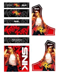 Custom 'Fatal Fury' Bartop Vinyl Graphics with Crystal Matt Laminate