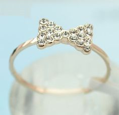 18KGP Bow Tie Ring