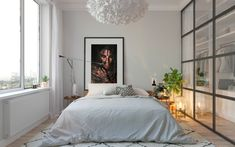 Scandinavian bedroom design on Behance Bedroom Furniture Makeover, Home Decor Bedroom, Modern Bedroom, Interior Design Career, Scandinavian Bedroom, Room Planning, Bedroom Styles, Living Room Sofa, Dream Bedroom