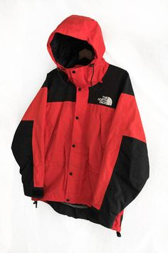 9f9a9fa333 Rare Vintage 90s The North Face Mountain Guide Gore-Tex jacket Red Black  Size M