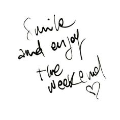 Smile and enjoy the weekend. #quote #quotes #inspiration #inspo #katierebekah ♡