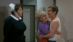 Hattie Jacques, Barbara Windsor and Kenneth Williams in Carry on Doctor. 1967