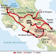 Itinéraire du voyage De Monteverde à Cahuita en Liberté - Famille Bioteau