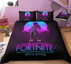 Game Fortnite Battle Royale Free To Play Battle Royale Online Video Game Developed And Published By Epic Games Gifts For The Boys Love Game Bedding Set - Quit Cover + 2 Pillow Cases Duvet Bedding, Bedding Sets, Beach Bedding, Chic Bedding, Blue Bedding, King Comforter, Bed Duvet Covers, Duvet Cover Sets, Blue Bedroom