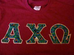 Alpha Chi Omega shirt. Love the lyrebird print!